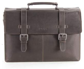 """Kenneth Cole Reaction Colombian Leather Double Gusset Flapover 13\"""" Computer Portfolio Bag"""