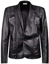 Saint Laurent Embroidered Leather Jacket