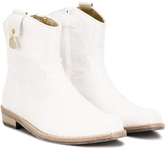 MonnaLisa Zipped Cowboy Boots