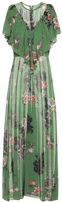 Preen by Thornton Bregazzi Irisa floral georgette maxi dress