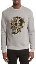 The Kooples Men's Embroidered Skull Sweatshirt