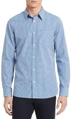 Calvin Klein New Essentials Gingham Slim-Fit Shirt