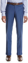 Isaia Unito Wool Flat-Front Trousers