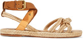 Etoile Isabel Marant Camila paneled woven, smooth and snake-effect leather sandals