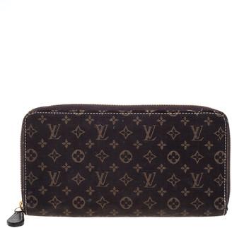 Louis Vuitton Brown Monogram Idylle Zippy Wallet