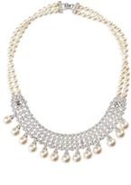 Nina Women's Glam Imitation Pearl Fringe Necklace