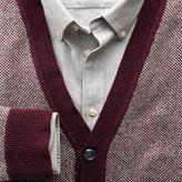 Charles Tyrwhitt Wine jacquard cardigan