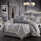 Thumbnail for your product : J Queen New York Tribeca 4-Piece King Comforter Set in Charcoal