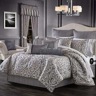 J Queen New York Tribeca 4-Piece King Comforter Set in Charcoal