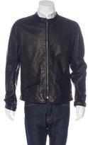 Dolce & Gabbana Leather Laser-Cut Jacket w/ Tags
