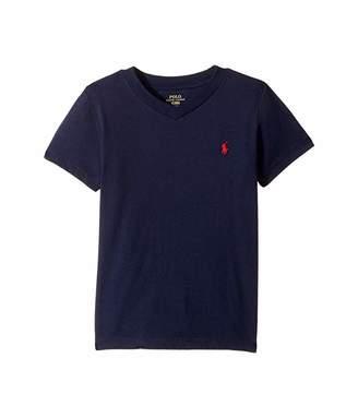 Polo Ralph Lauren Cotton Jersey V-Neck T-Shirt (Little Kids/Big Kids)
