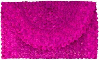 Poppy + Sage Grass Clutch - Hot Pink Straw