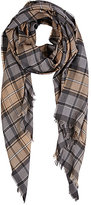 Colombo MEN'S PLAID TWILL SCARF-GREY