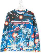 Moschino Kids Transformer logo print sweatshirt