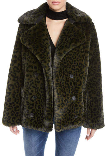 0bfddcfeca Miles Leopard-Print Faux-Fur Coat