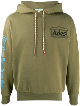 Aries Hooded Logo Sweatshirt