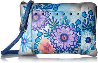 Anuschka Anna by Hand Painted Leather Women's Medium Crossbody Organizer