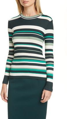 BOSS Elauren Stripe Long Sleeve Top