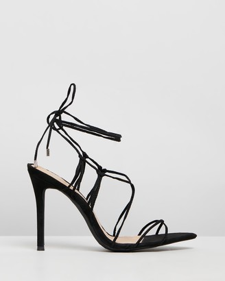 Missguided Lace-Up Pointed Toe Heels