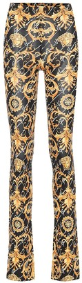 Versace Printed stretch-jersey pants