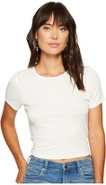 Kensie Subtle Slub Tees Top KS6K3516 Women's T Shirt