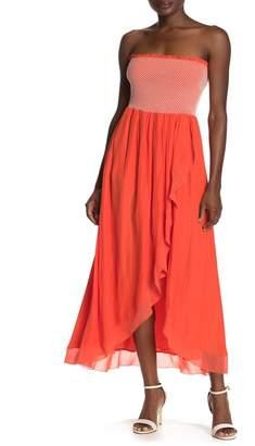 Ramy Brook Demetra Smocked Strapless Dress