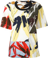 Marni mixed print T-shirt - women - Cotton/Polyester/Spandex/Elastane - 40