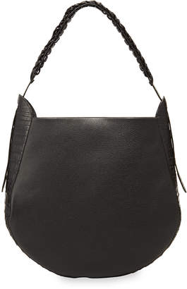 Nancy Gonzalez Leather and Croco Hobo Bag