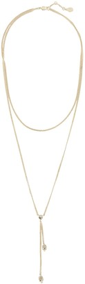 Alexander McQueen Double-Wrap Pave Skull Necklace