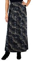 George Simonton Burnout Velvet Knit Maxi Skirt with Elastic Waistband