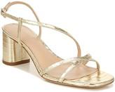 Via Spiga Strappy Metallic Leather Mid-Heel Sandals - Roslyn