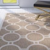 """Olsene Geometric Brown/Beige Indoor/Outdoor Area Rug Mercer41 Rug Size: Rectangle 4' x 5'7"""""""