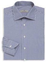 Canali Gingham Cotton Long Sleeve Shirt