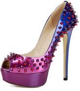 MermaidShoes Mermaid Women's Shoes Peep Toe Spiked High Heel Platform Pumps-7