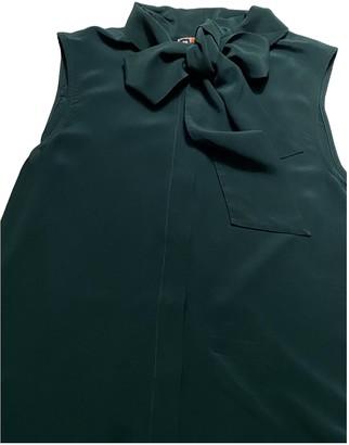 MSGM Green Silk Dresses
