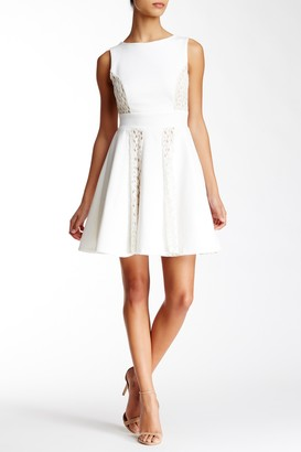 Everleigh Lace Inset Fit & Flare Dress