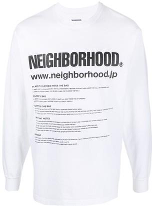 Neighborhood ID/C-Tee.LS logo-print T-shirt