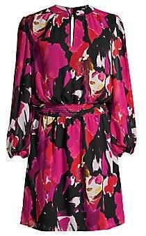 Trina Turk Women's Kaneshon Printed Long-Sleeve Dress - Size 0