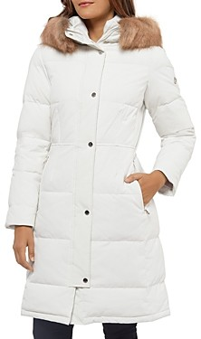 Kate Spade Faux Fur Trim Hooded Parka