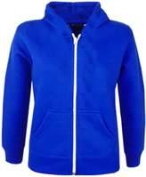 A2Z 4 Kids® Kids Girls & Boys Plain Fleece Hoodie Zip Up Style Zipper Jacket Age 5