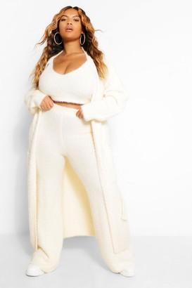 boohoo Plus Premium Soft Knit Maxi Cardigan