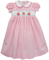 Pink Cupcake Smocked Dress - Infant Toddler & Girls