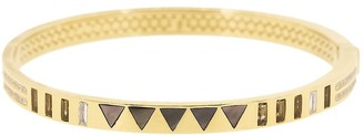 Harwell Godfrey 18kt Yellow Gold Diamond Triangle Inlay Bangle