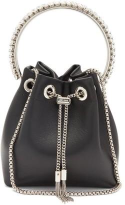 Jimmy Choo Bon Bon Crystal-embellished Leather Clutch Bag - Black Multi