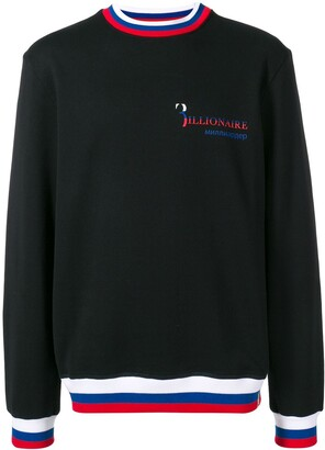 Billionaire Striped Hem Sweatshirt