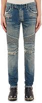 Balmain Men's Distressed Skinny Biker Jeans
