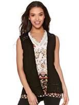 M&Co Petite crochet trim waistcoat
