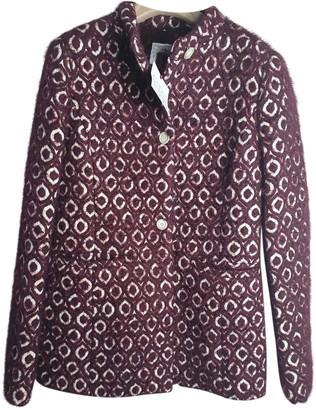 Stella Jean Burgundy Wool Jackets