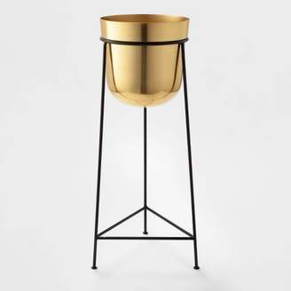 """Project 62 26"""" x 9.2"""" Brass Planter With Stand Gold/Black - Project 62TM"""