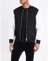 Neil Barrett Embossed Lightning Bolt Bomber Jacket